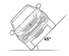 Fiat Fullback - угол наклона 45 градусов
